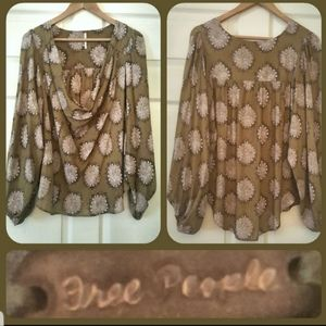 FREE PEOPLE Bohemian Style Blouse NWOT